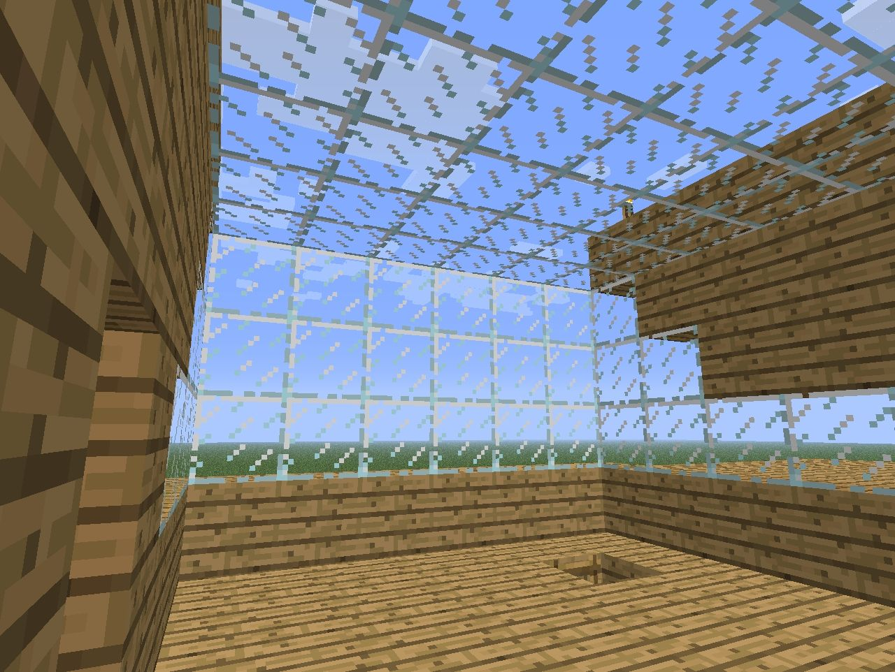 Big wooden house minecraft project for Window design minecraft
