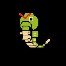 Caterpie Pixel Art (Looks Pretty Messed Up :D) Minecraft Blog
