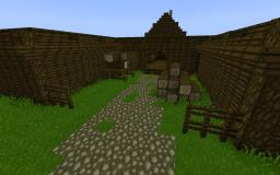 Beorn's house from The Hobbit Minecraft Project