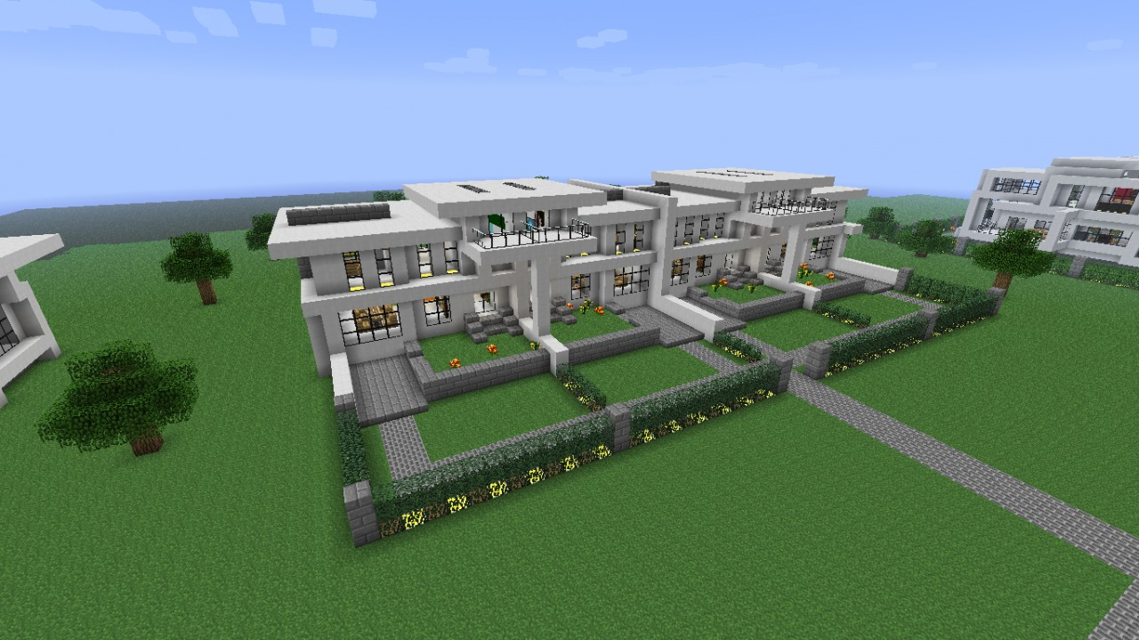 Modern neighborhood house five download minecraft project for Modern house projects