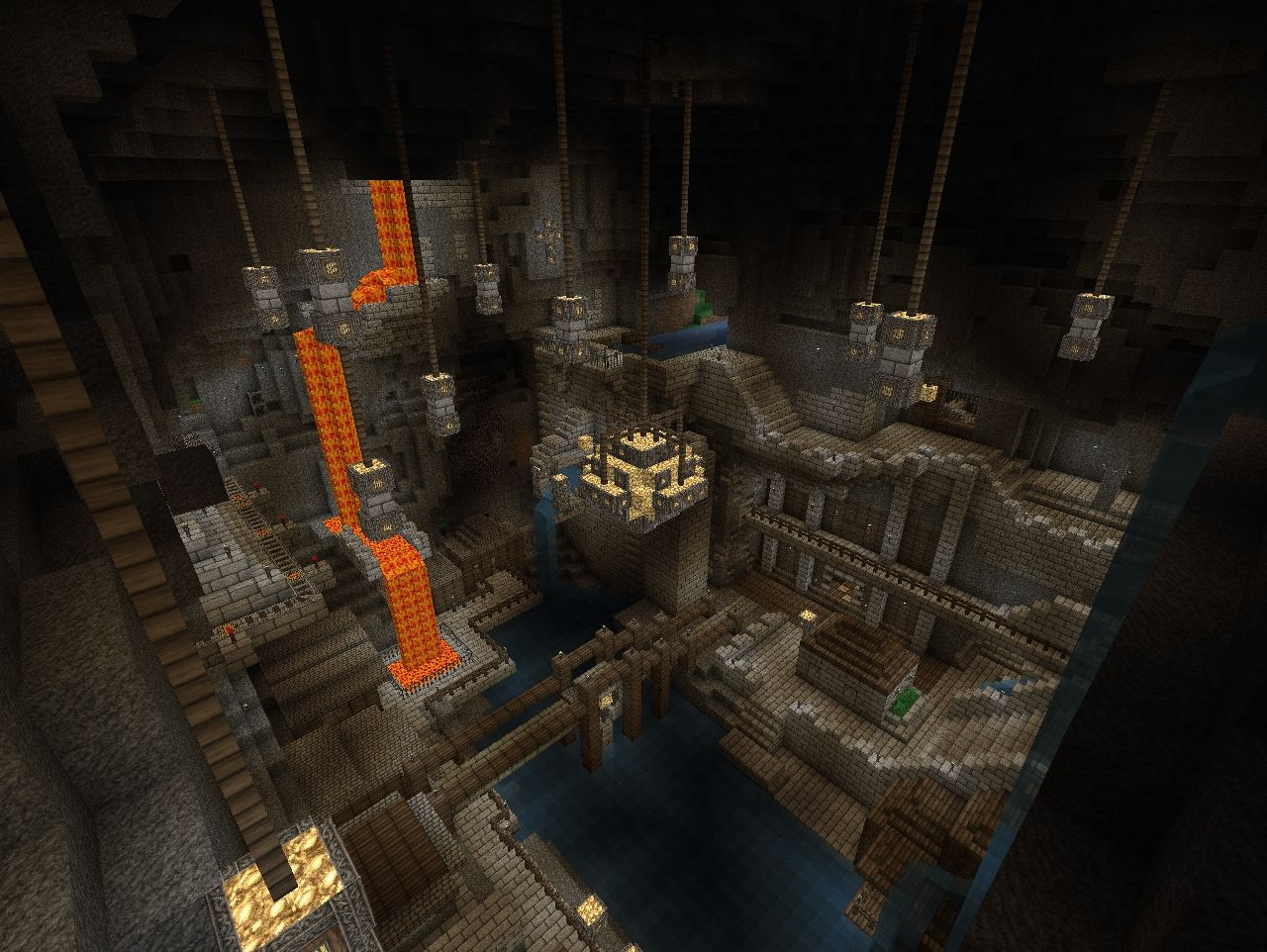 how to grow a giant tree underground in minecraft