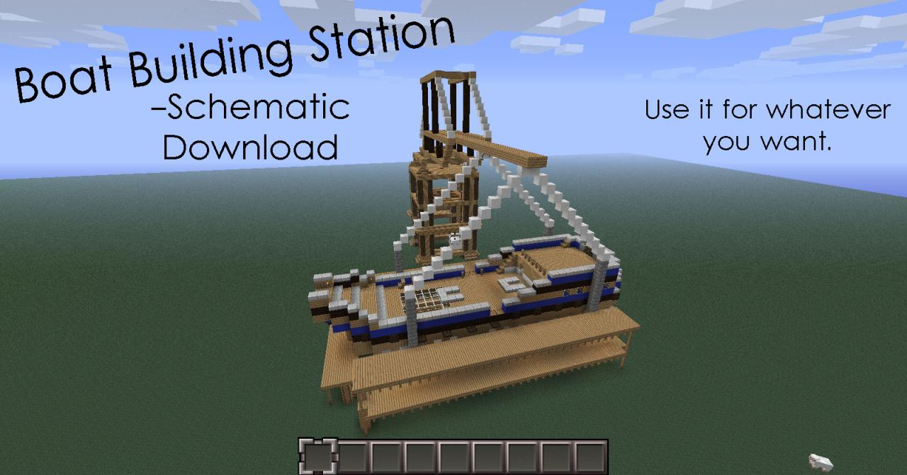 Boat Building |Schematic Download| Minecraft Project on small minecraft ship plans, small minecraft yacht tutorial, small minecraft village, small boats mod minecraft,