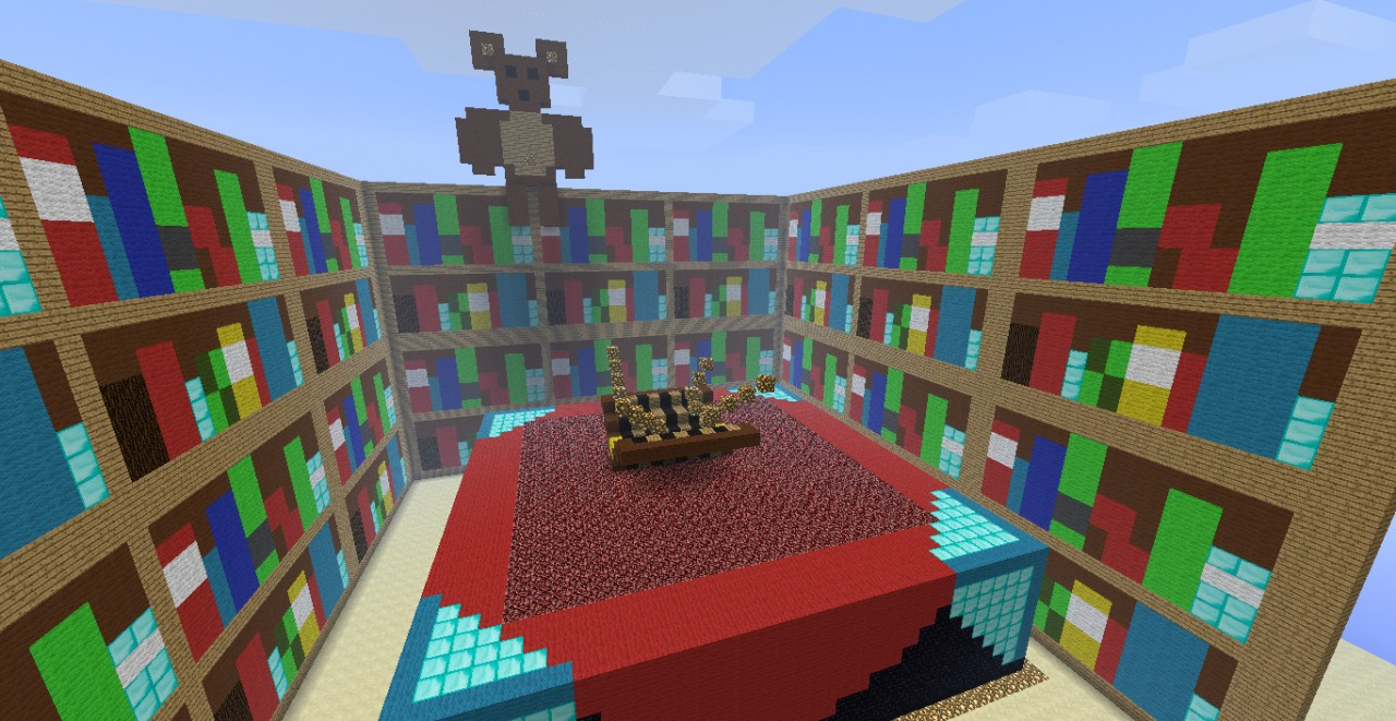 Updated* Big Enchantment Table With Bookshelves Minecraft