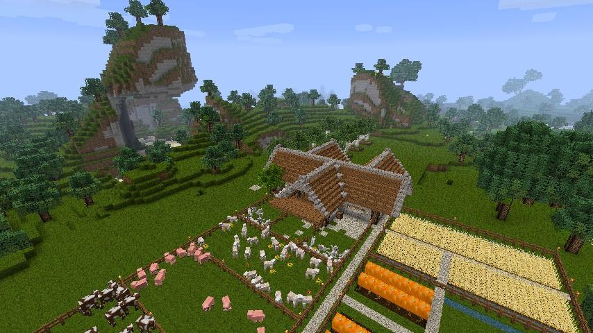 Minecraft Gronkhs Bauernhaus Auf Gronkhs ORIGINAL Alpha Map - Minecraft pe hauser zum nachbauen