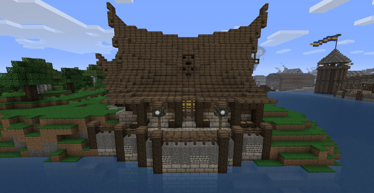 big viking house minecraft project