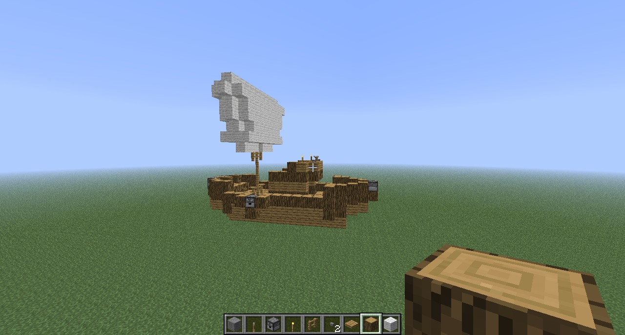 How To Build A Cool Boat In Minecraft
