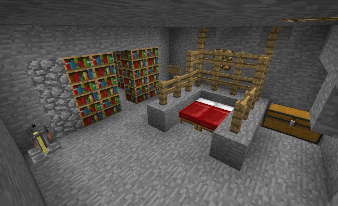 how to make a secret base in minecraft with pistons