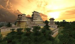 EPIC Japanese Castle: Himeji Castle Minecraft Map & Project
