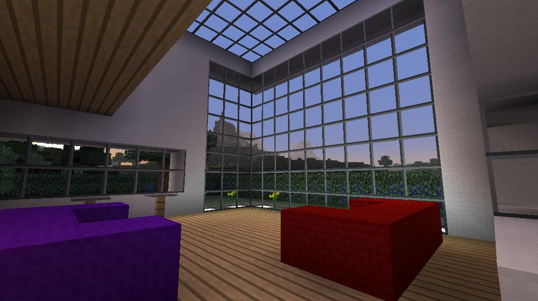 Minecraft big modern house minecraft project Huge modern homes