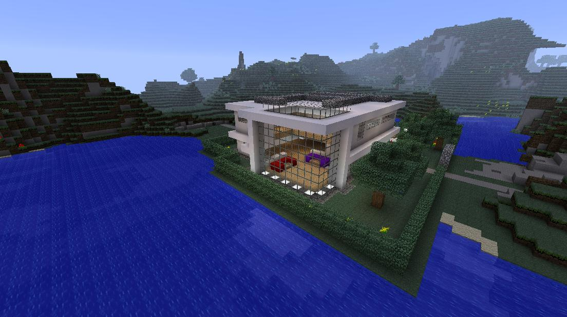 Minecraft big modern house minecraft project for Huge modern mansion