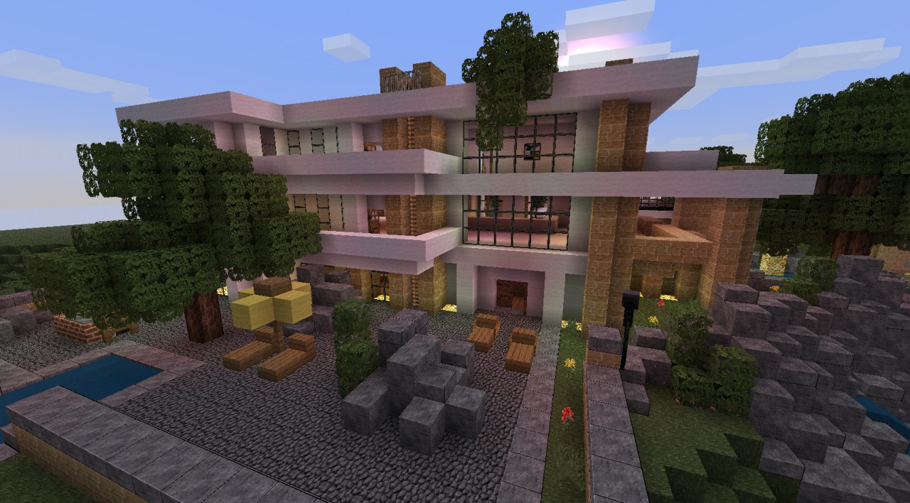 Maison lara prix trendy courtesy of msr design u for Belle maison minecraft
