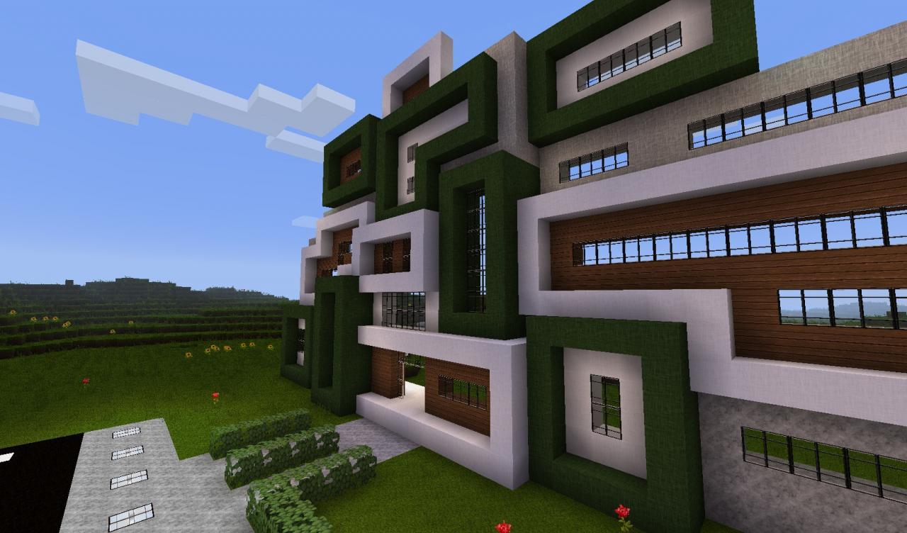 Image Gallery Modern Minecraft City Blueprints