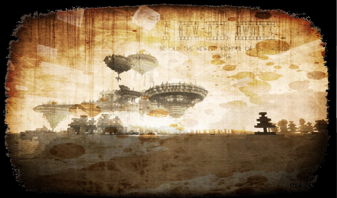 Steampunk floating city {New Aerios} Minecraft Project Steampunk Floating City