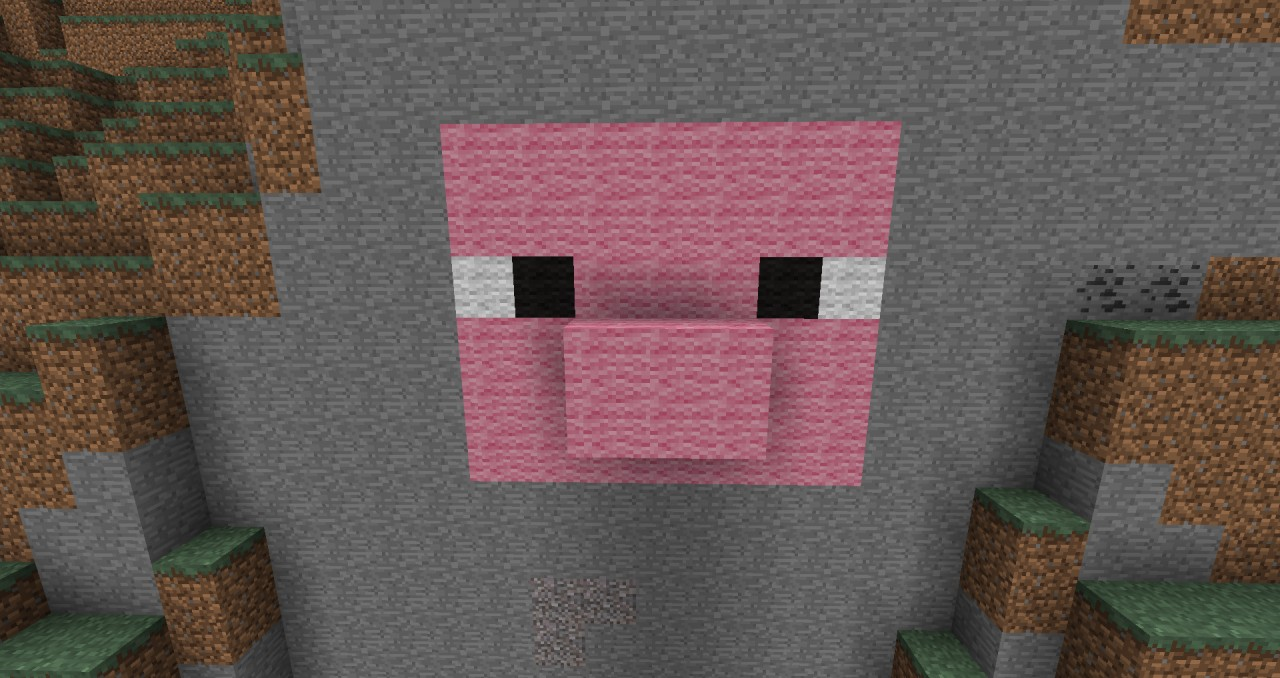 how to draw a minecraft pig face