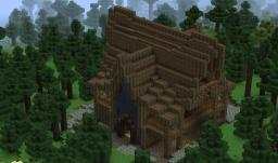 Elven Log House Minecraft Project