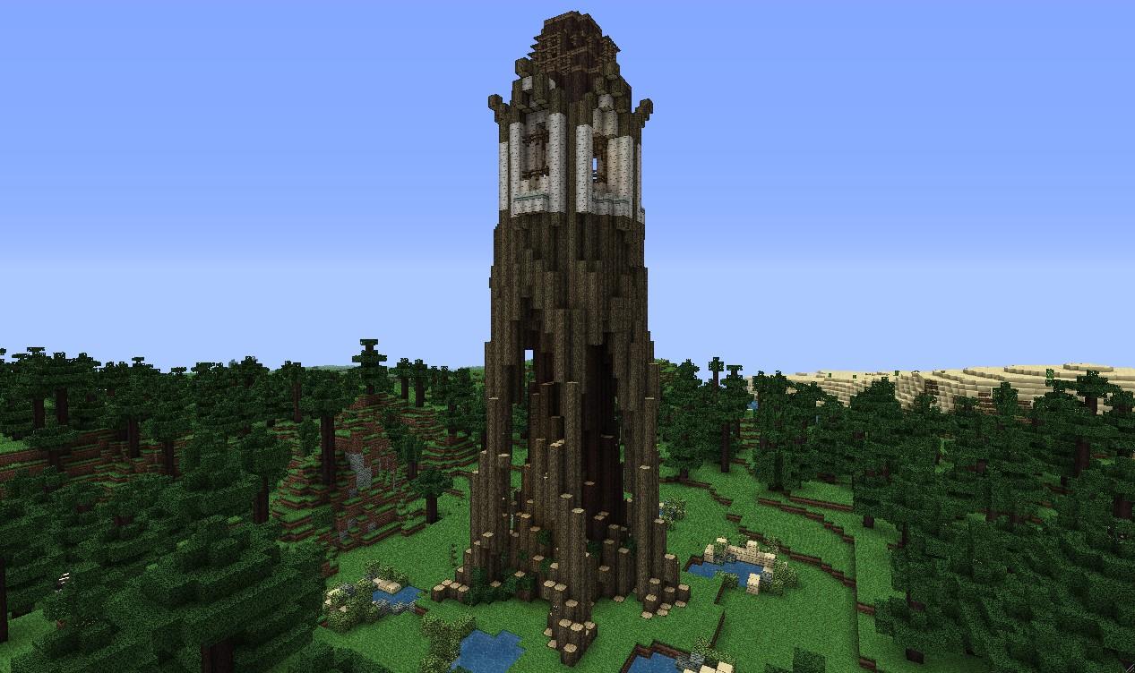 Elven Archer Tower Minecraft Project