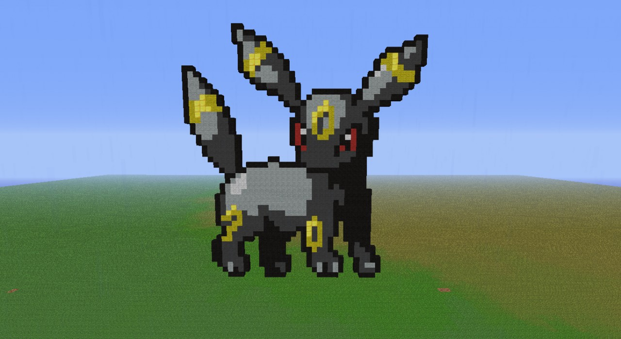 Umbreon From Pokemon Pixel Art Minecraft Project
