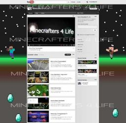 You Tube Awesome Customised channels Giveaway! Minecraft Blog Post