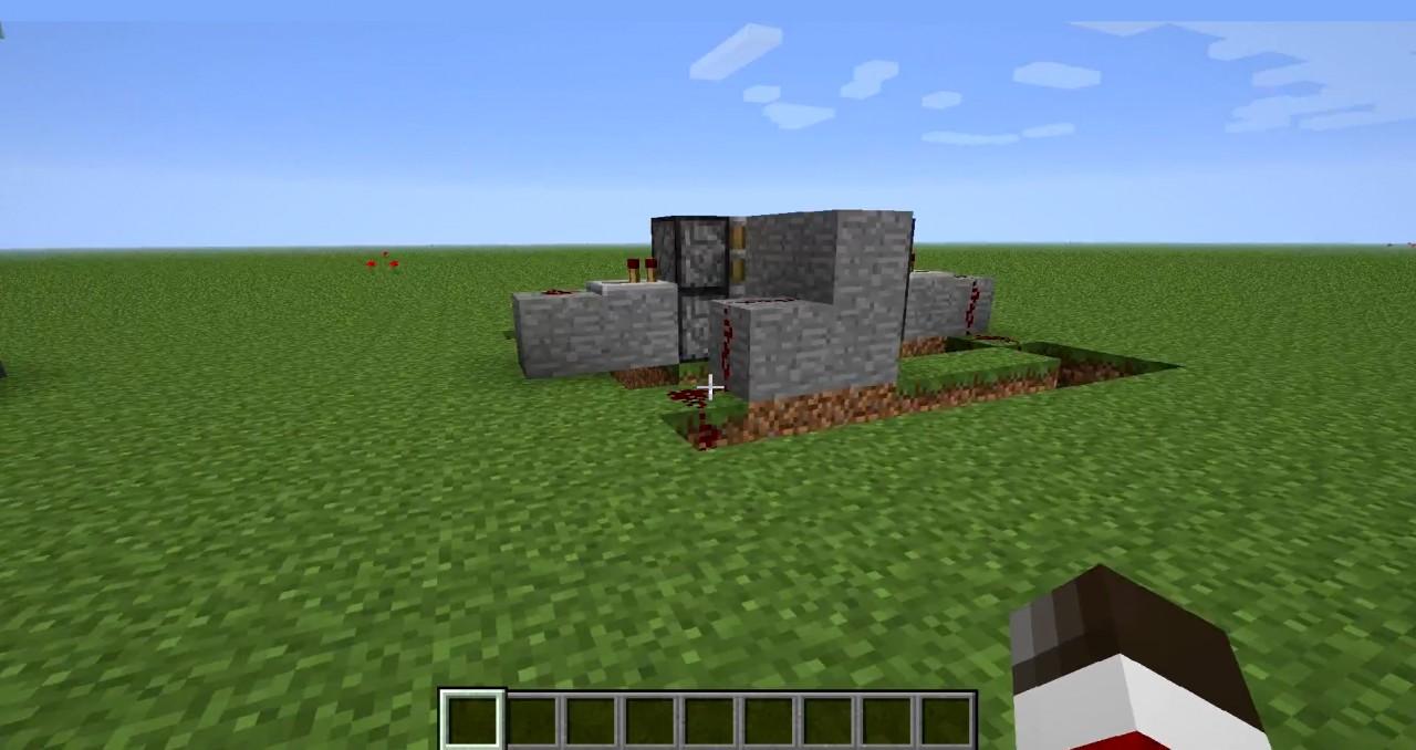 Minecraft - piston door without sticky pistons Minecraft ...