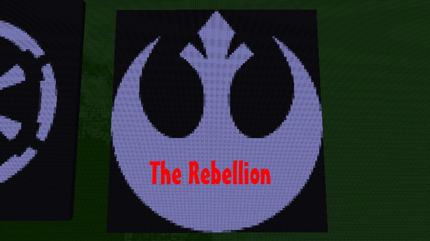 the rebellion star wars pixel art collection minecraft project