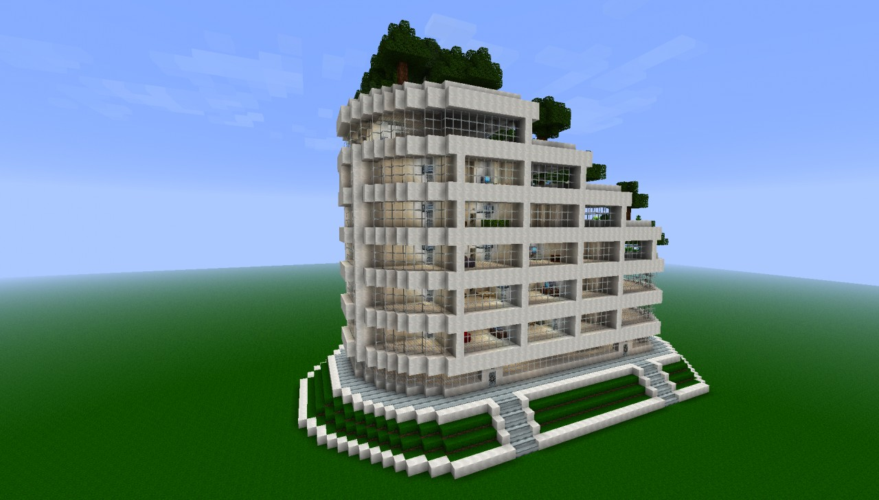 Modern Terraced Apartment Complex Minecraft Project