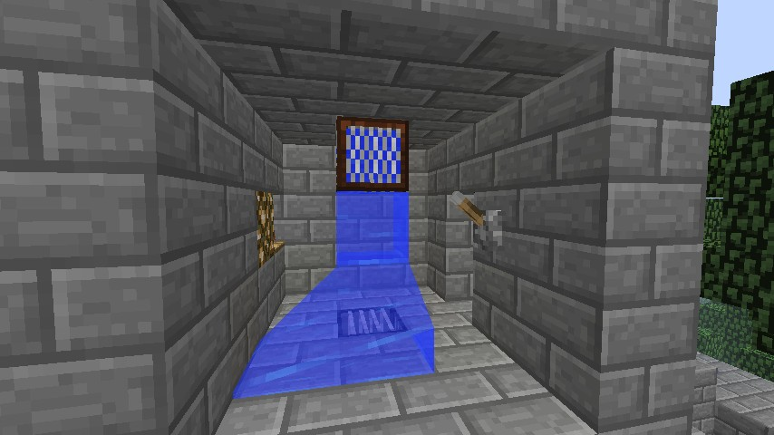 how to build a working shower in minecraft