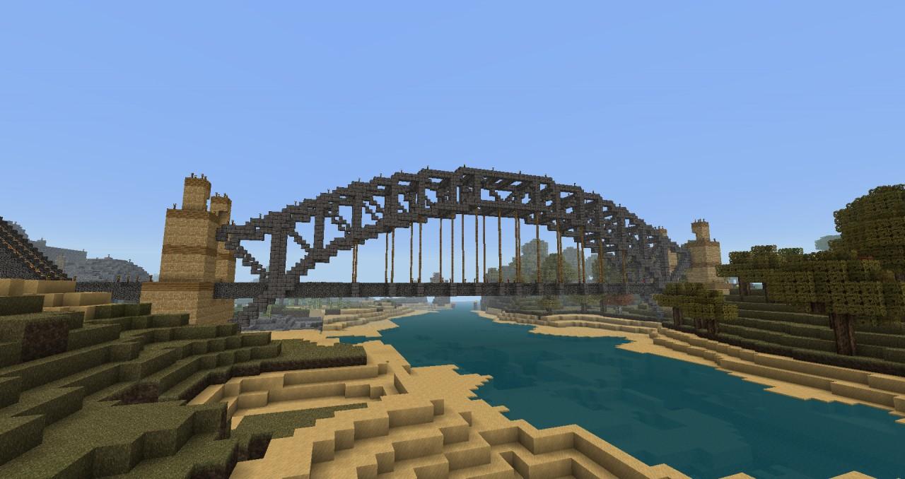 Through Arch Bridge on Minecraft Wall Designs