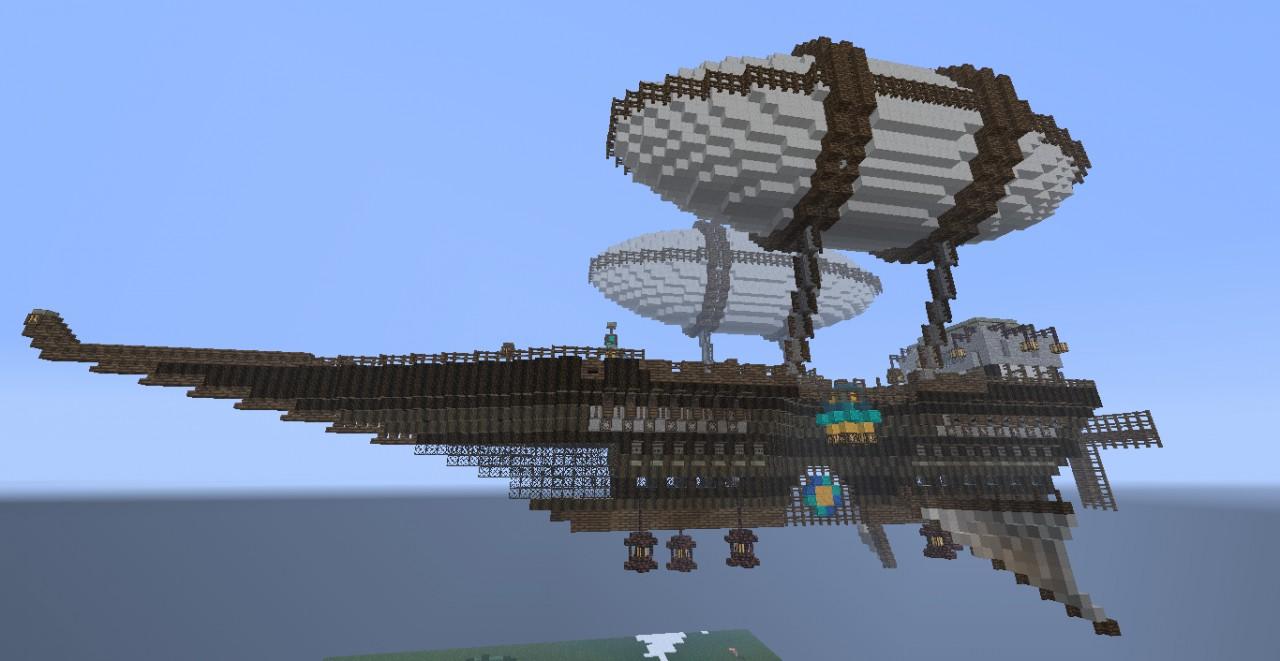 Steampunk Airship Dawnstar Minecraft Project
