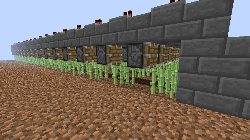 automatic sugar cane farm Minecraft Project