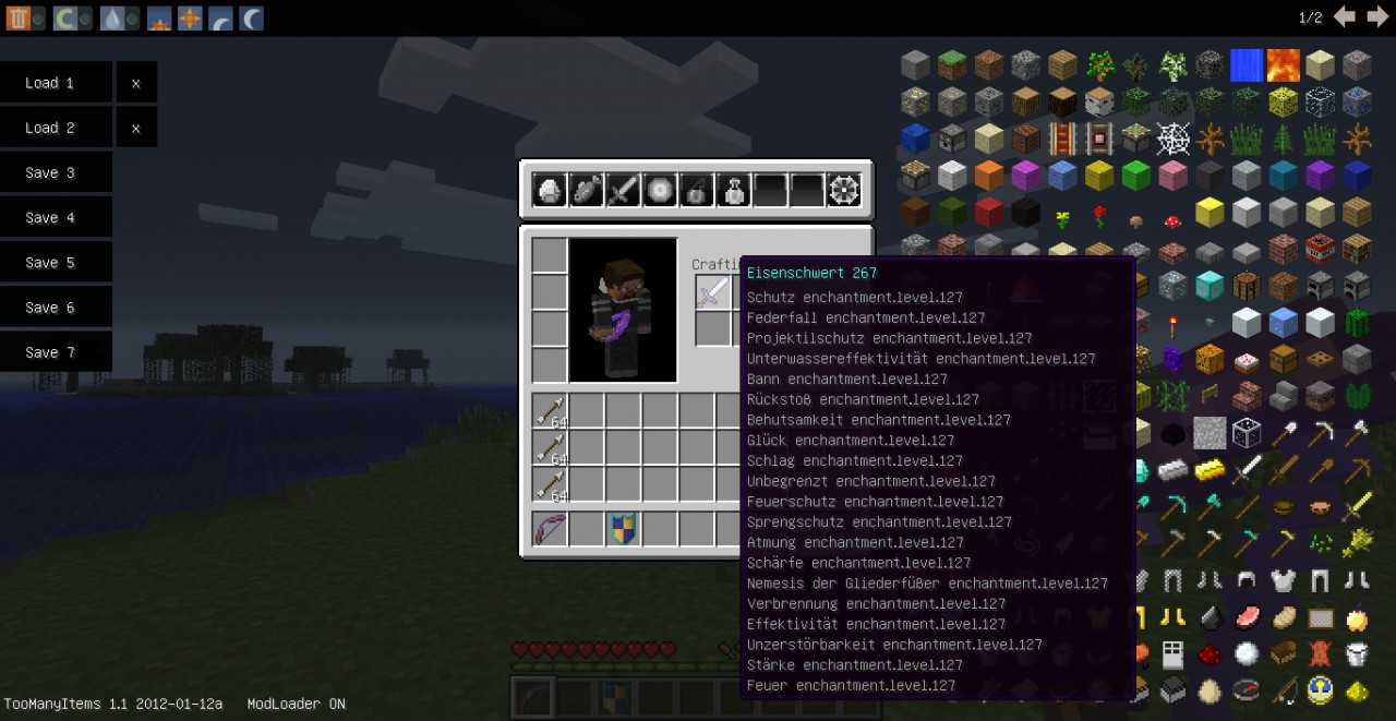 best sword in the game and the best bow minecraft project
