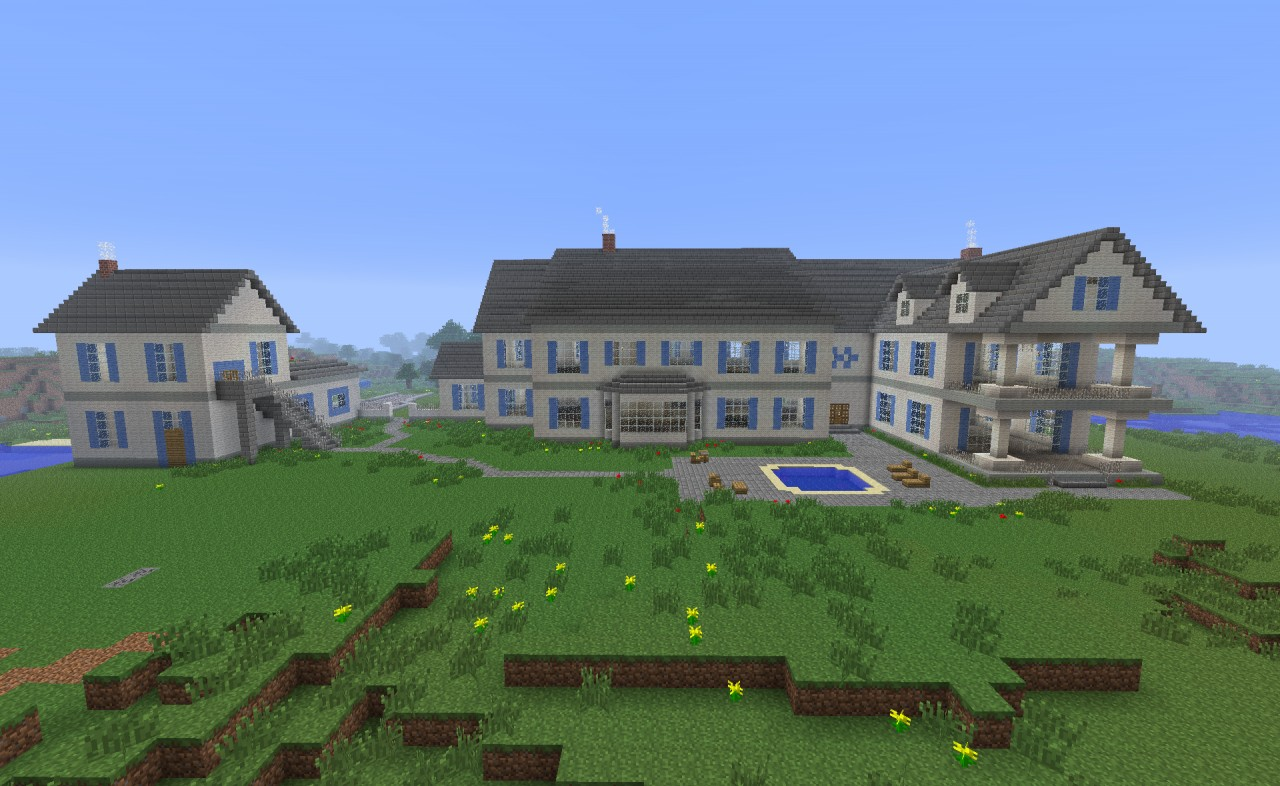Townhouse Blueprints Seven Postwhite Mansion Minecraft Project