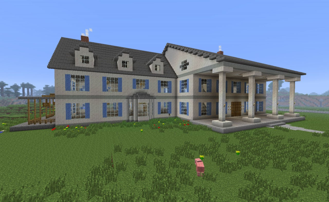 Minecraft Beach House Schematic