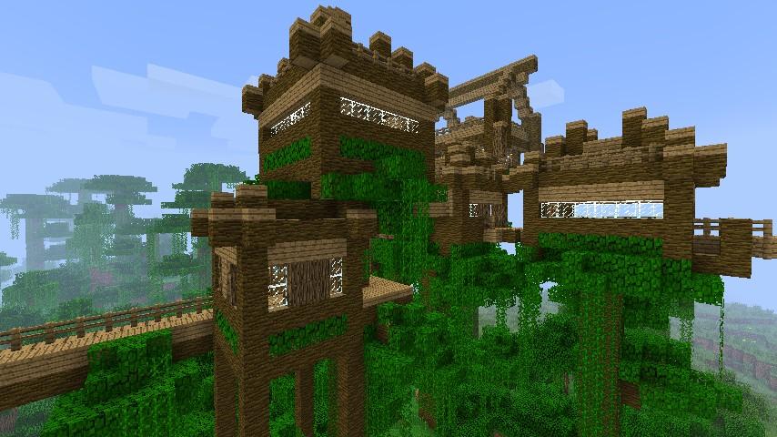 jungle village update 1 minecraft project