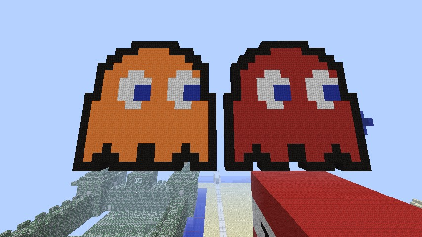 Pac-Man Ghosts Minecraft Project