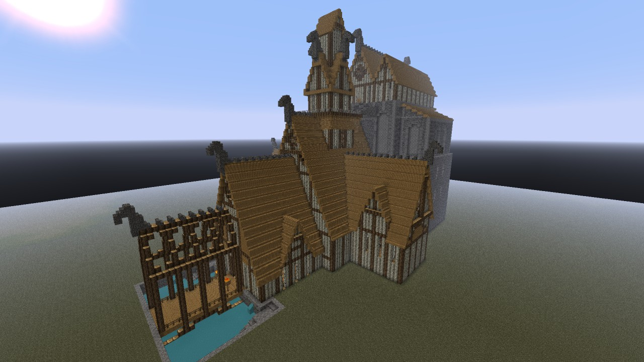 Minecraft Home Interior Modern Sandstone House Minecraft Project Skyrim Dragonsreach By Sorow