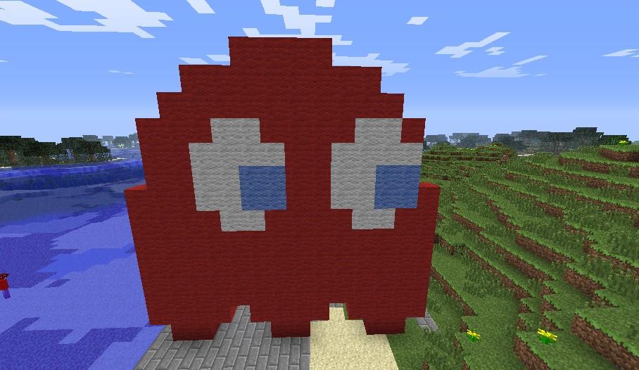 Pacman Ghost Sprite Minecraft Project