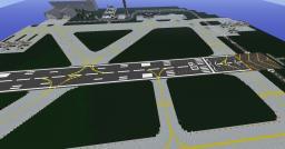 Runway w/ numbers 09 & 27 - schematic Minecraft