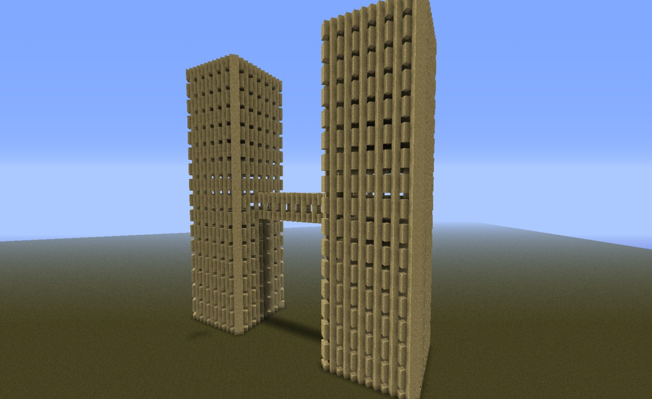 Twin Towers Sandstone Minecraft Project