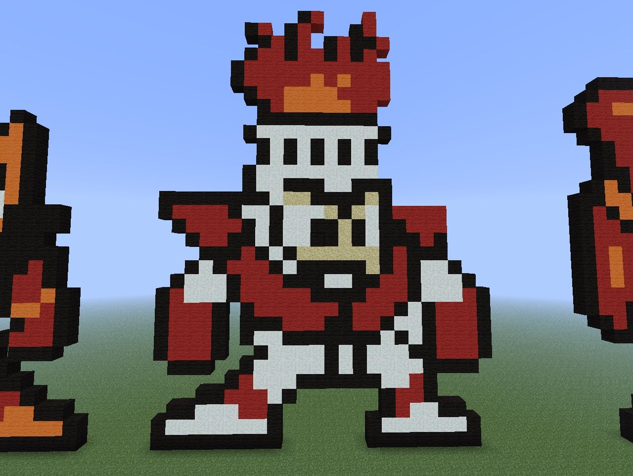 Pixel Art Time - Megaman Boss Collection Minecraft Project