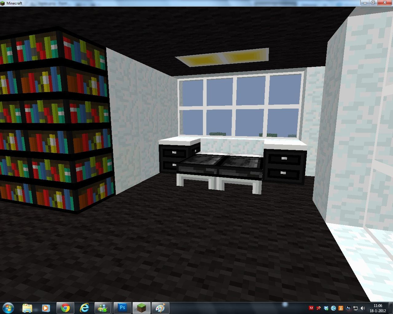 Modern House with self designed texture pack Minecraft Project - ^