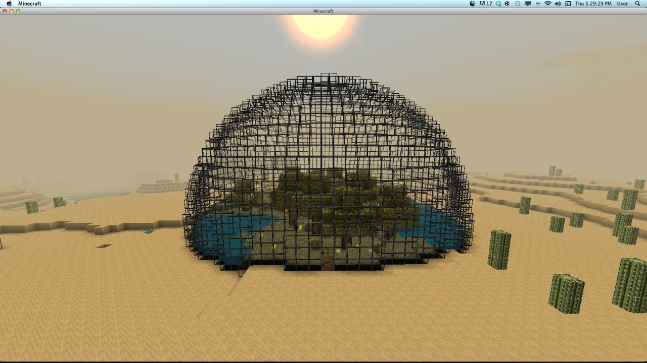 how to make a biodome in minecraft