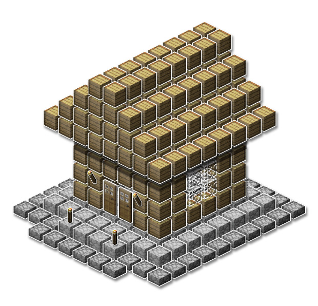 . How to build a Cool House  2  Minecraft Blog