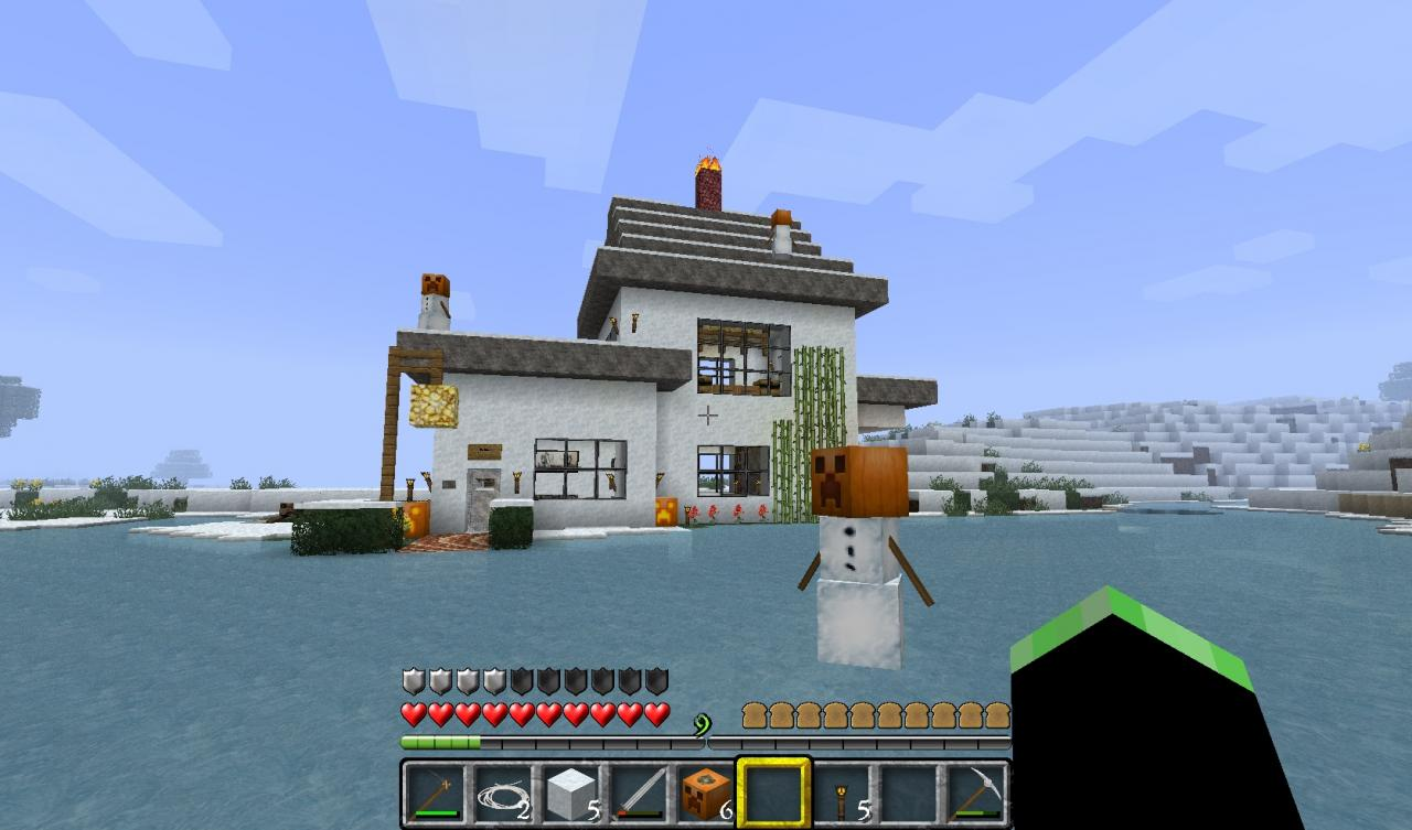 Snow minimalist house minecraft project for Minimalist house minecraft