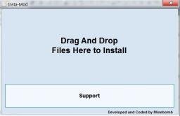 Insta-Mod Drag And Drop Mod Installer Minecraft Mod