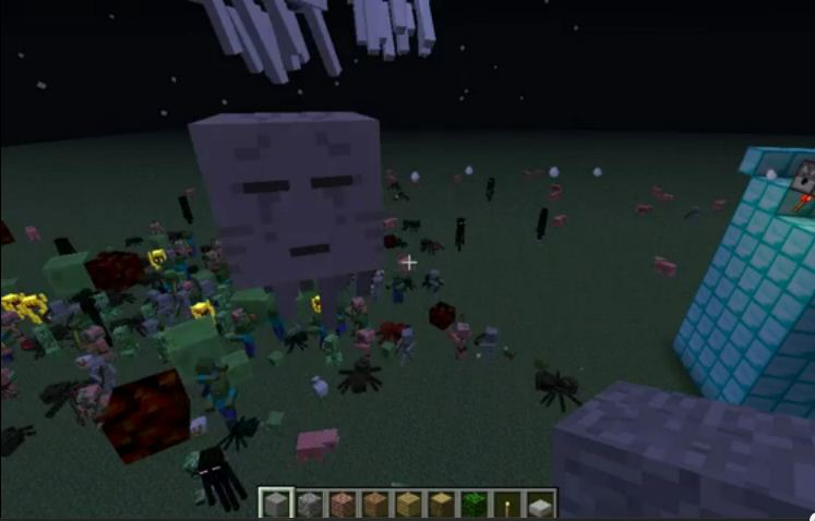 Using Dispensers to Spawn Lots of Mobs