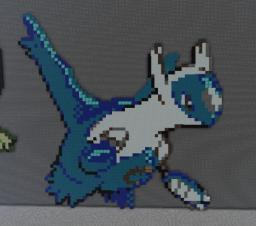 Latios Pixel Art W/Schematic Minecraft