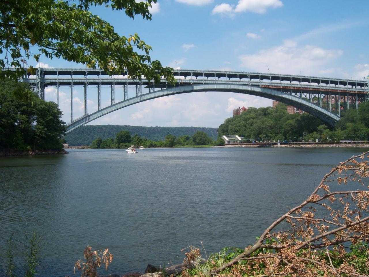 The real Henry Hudson Bridge, in New York, NY