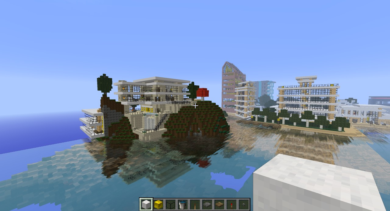1 of 100's of modern houses with city in background