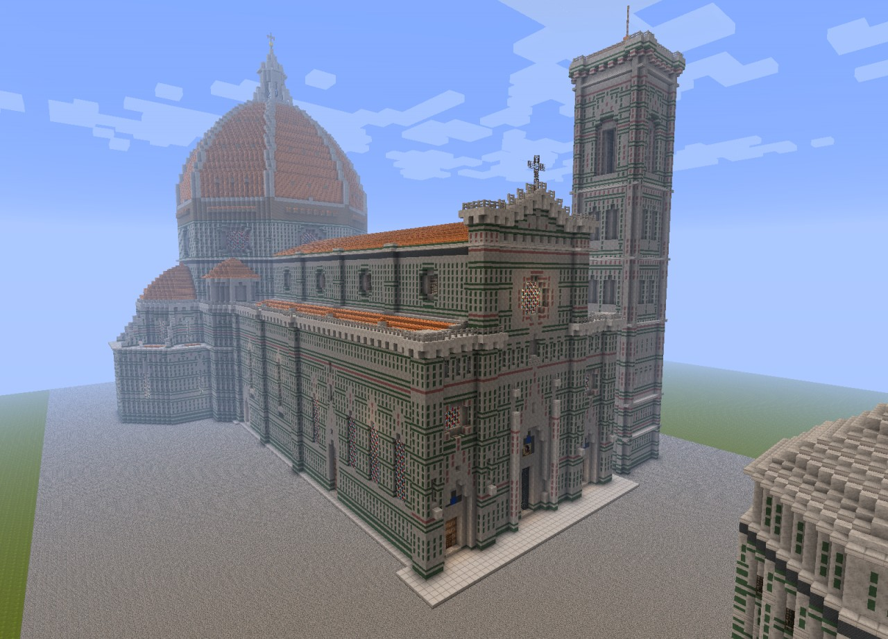 Florence Duomo Assassin S Creed Cathedral Minecraft Project