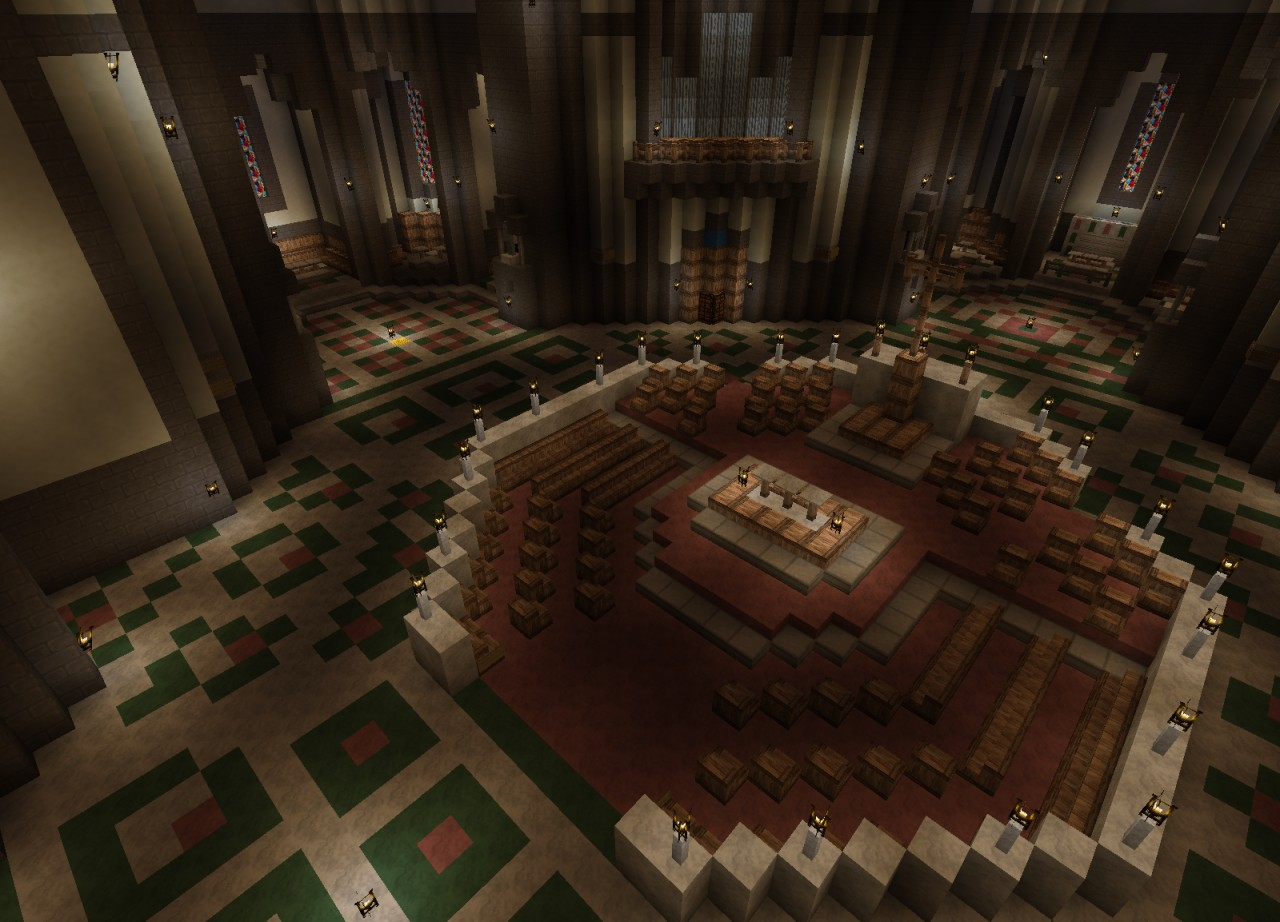 Crossing with the High Altar and previously missing statue nooks (and statues, with optional Morgeh's Statues mod)